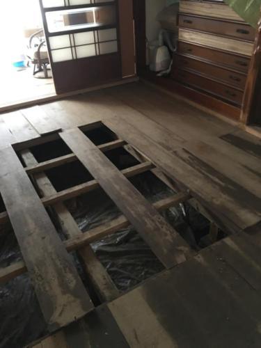 いわき市平 平窪A様邸施工前 台風及び洪水