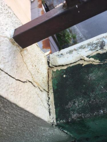 ベランダ雨漏り施工前